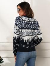 Popular Snowflake Long Sleeve Sweater Christmas