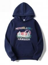 Hooded Collar Printing Mens Sweatshirt Casual