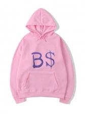 Leisure Style Letter Pullover Hoodie Sweatshirt