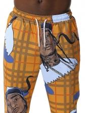 Cartoon Character Graffiti Print Jogging Pants Casual