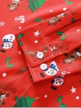 Christmas Snowman Print Long Sleeve Mens Shirt
