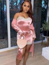 Sexy Lace Trim Short Sleeveless Dress