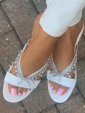 Euro Rhinestone Round Toe Ladies Slippers