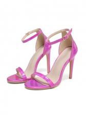 Euro Round Toe High Heel Summer Sandals