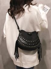 New Rivet Tassel Ladies Shoulder Bag