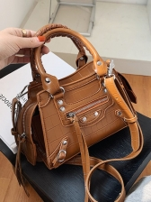 Fashion Solid Alligator Print Ladies Handbags