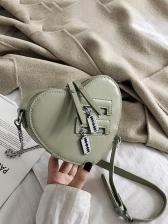 Casual Heart Style Crossbody Shoulder Bag