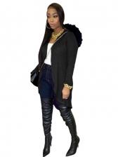 Backless Loose Long Sleeve Hooded Coat