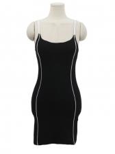 U Neck Spaghetti Strap Night Club Mini Dress