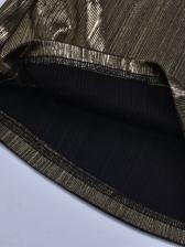 Off Shoulder Golden Crop Top And Pant Set