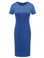 Pure Color Short Sleeve T Shirt Dress