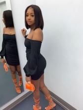 Seductive Off Shoulder Long Sleeve Bodycon Dress