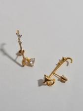 Trendy Vintage Rhinestone Geometry Earrings