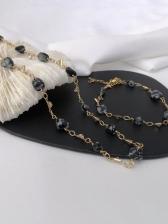 Vintage Rhinestone National Style Necklace Bracelet