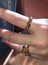 Street Snap Copper Geometry Ring
