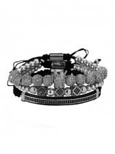 National Style Vintage Four Pieces Bracelet Set