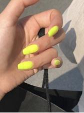 Yellow Matte False Nail Patch Natural