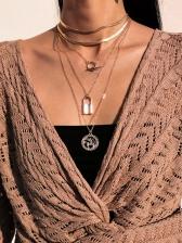 Versatile Punk Street Lock Pendant Necklace