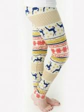 Christmas Digital Print Long Pants