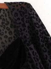 Sexy V Neck Leopard Bodysuit