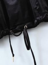 Contrast Color Patchwork Zipper Hoodie