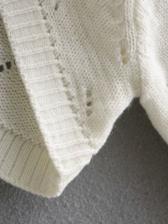 Sexy Cropped White Knitting Sweater