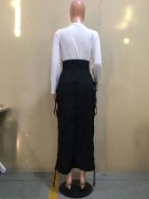 Fashion Elastic Waist Drawstring Skirts For Women