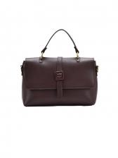 Minimalist Pure Color PU Large Shoulder Bag