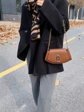 Chic Design Twist Lock Ladies Shoulder Bags
