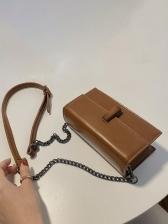 Retro Style Rectangle Chain Shoulder Bag