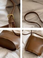 Simple Rivet Decor Pure Color Shoulder Bags