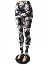 Casual Wear High Waist Printed Leggings