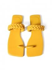 Versatile Solid Square Toe Beach Slippers