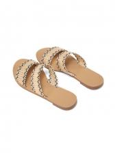 Stylish Round Toe Tribal Printed Womens Slippers