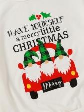 Christmas Letter Car Printed Cute Sweatshirts