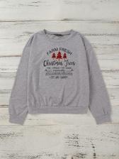 Christmas Letter Pattern Long Sleeve Cool Sweatshirts