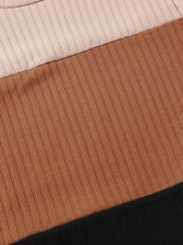 Euro Color Block Long Sleeve Tee Shirts
