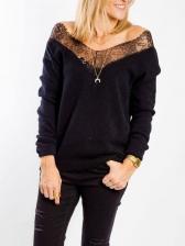 Eyelash Lace Patchwork Cool Sweatshirts