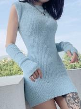 Autumn Slim Knitted Long Sleeve Bodycon Dress