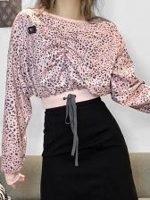 Fashion Leopard Printed Autumn Women Sweatshirt