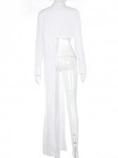 Irregular Hem New Arrival Women White Blouse