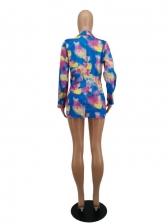 Leisure Tie Dye Chic V Neck Blazer Dress