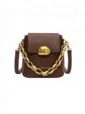 Korean Style Trendy Chain Handle Shoulder Bag