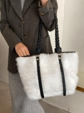Winter Fur Simple Stylish Tote Bag