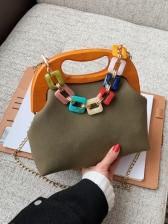 Latest Vintage Art Acrylic Chain Shoulder Bag