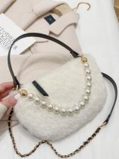 Trendy Versatile Dating Faux-Pearl Shoulder Bag