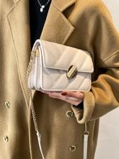 Fashion Simple Rhombus Plaid Versatile Shoulder Bag