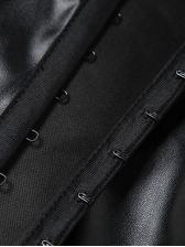 Turndown Collar Striped Fashion Cropped Blouse
