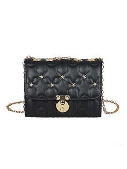 Star Decor Threaded Chain Shoulder Bag
