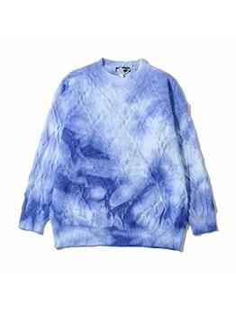 Spring Tie Dye Crew Neck Sweater